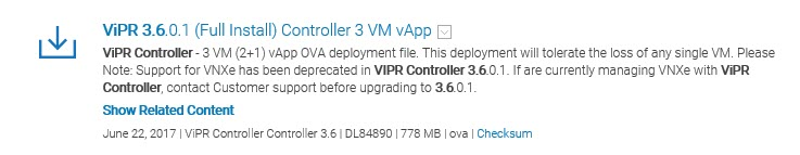 ViPR 3.6 Install & Config1