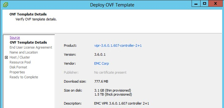 ViPR 3.6 Install & Config3