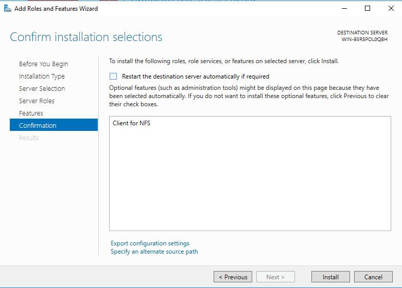 Windows 2016 – Mount An NFS Share – DavidRing ie