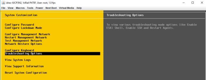 ESXi Shell Access via DCUI3