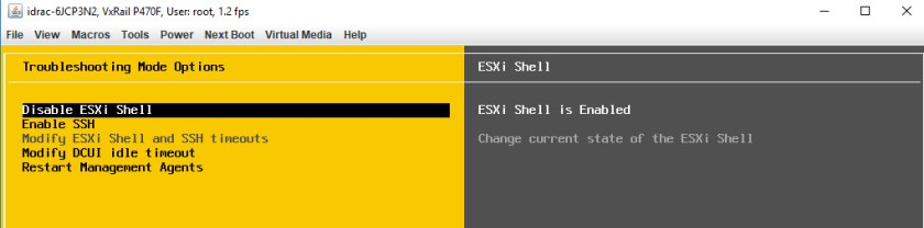 ESXi Shell Access via DCUI4